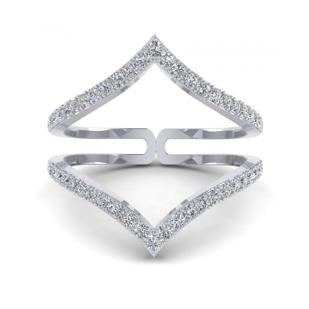 ring cz ca double trinity options knot product rings silver band hand
