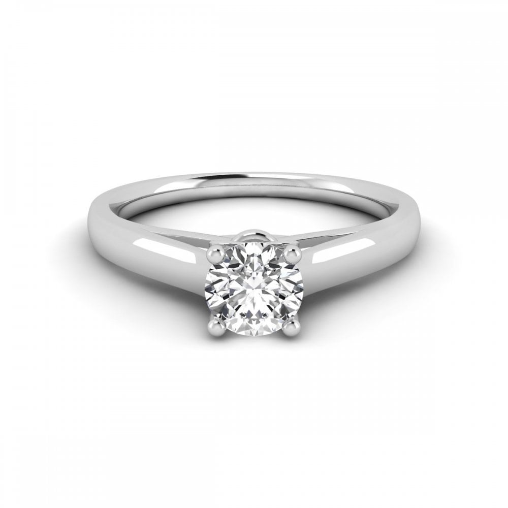 Carat Craft Half Carat Solitaire Diamond Engagement Ring - RINGS ... 98b7ec393f