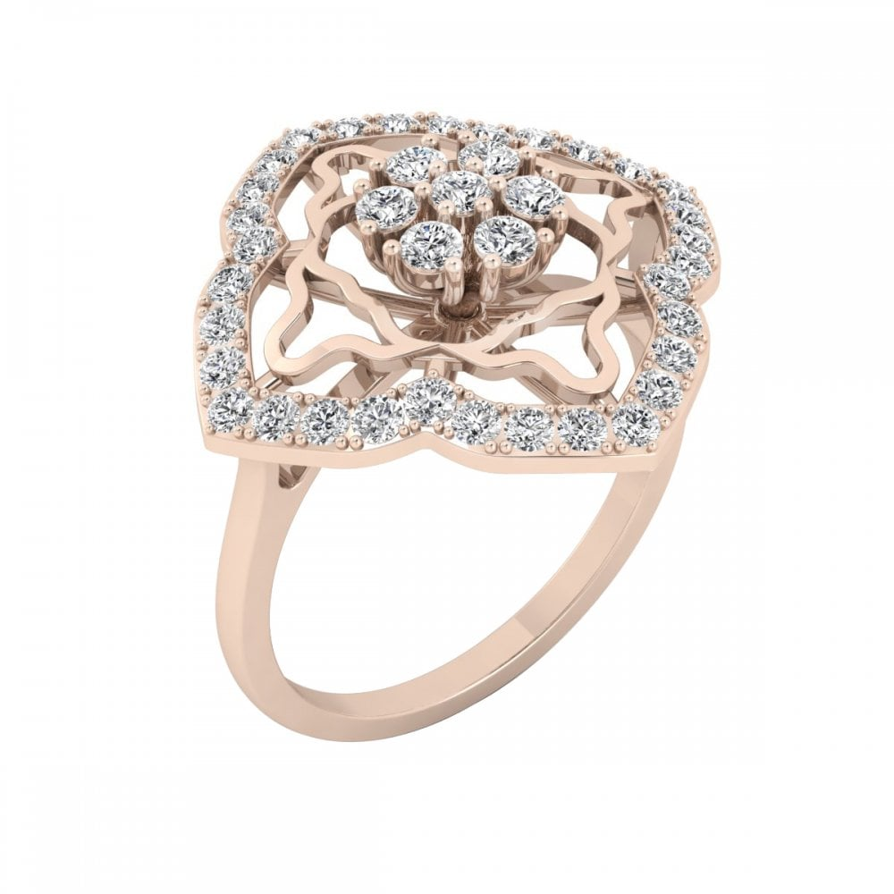 Carat Craft Victorian Style Diamond Engagement Ring